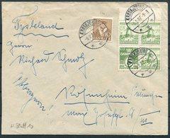 1937 Denmark Dybol Mill Booklet Pane (Facit H1) Aeroskjobing Cover - Germany - 1913-47 (Christian X)