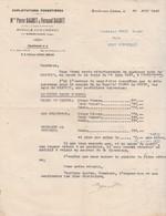 Facture Pierre & Fernand BAGUET /Bois Pour Râperie / Envoi Par Wagon/ 88 Roville Aux Chênes / Par Rambervillers / Vosges - France