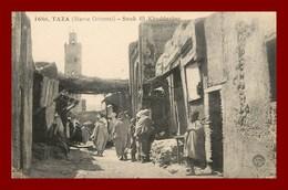 Taza * Souk El Kheddarine    (scan Recto Et Verso ) - Maroc