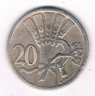 20 HALLER  1924  TSJECHOSLOWAKIJE /2544/ - Tchécoslovaquie