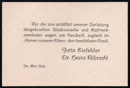 C3696 - TOP - Jutta Eisfelder Und Dr. Heinz Albrecht - Visitenkarte Einladung Verlobung - Visitenkarten