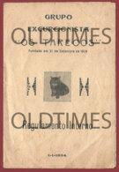 """PORTUGAL - GRUPO EXCURCIONISTA """" OS TARECOS """" - REGULAMENTO INTERNO - 1934 OLD PAPER - Vieux Papiers"""