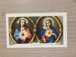 Santino Sacro Cuore Di Gesu' E Sacro Cuore Della Madonna - Images Religieuses