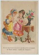 Chromo Maufacture De Chaussures P. Fauré 12 Rue Du Delta à Paris . Bouquet De Fleurs Dans Une Bottine . Imp. Lefranc . - Autres