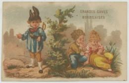 Chromo Grandes Caves Bordelaises 17 Rue Monge à Paris . Vin . Scène Galante Surprise . Tarifs Au Dos . Imp. Van Geleyn . - Autres