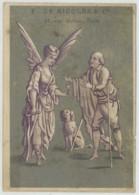 Chromo Alcool De Menthe De Ricqlès . Ticket De Chaise . Chaises Des Promenades . - Autres
