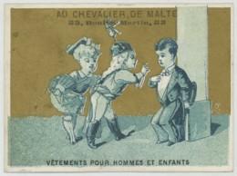 Chromo Au Chevalier De Malte . Vêtements Pour Hommes Et Enfants 53 Bd St-Martin à Paris . Imp. L. Mertens . - Autres