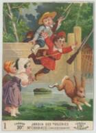 Chromo Au Chapeau Rouge 40 Rue De L'Hôtel De Ville . Ticket De Chaise Chabaud Jardin Des Tuileries . Imp. Testu & Massin - Autres