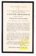 DP Im. Mort. - Lucien Beaupain / Thul ° Cierreux Bovigny Gouvy 1837 † Herstal 1900 X Amicie Courard - Images Religieuses