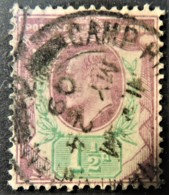 GB Edward VII 1902 1 1/2d Green And Purple Used CDS CAMP HILL Cancellation May24 1909 SG221  JandRStamps - 1902-1951 (Kings)