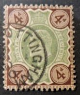 GB Edward VII 1902- 4d Green And Brown Used CDS NOTTINGHAM Cancel SG235  JandRStamps - 1902-1951 (Kings)