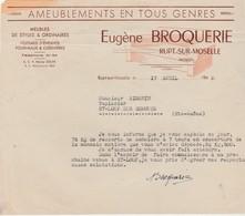 Facture 1948 / Eugène BROQUERIE / Echange 75 Kg Ressorts Sommiers / Monnaie Matière / 88 Rupt Sur Moselle / Vosges - 1939-45
