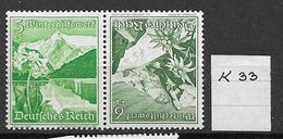 1938 MNH Germany Winterhifswerk,  Postfris**, K53 - Zusammendrucke