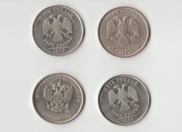 Lot 4 Pièces De 5 Roubles - 2018 2014 2012 Et 1998 - Rusia