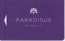 CUBA KEY HOTEL Paradisus By Meliá - Paradisus Cuba - Cartes D'hotel