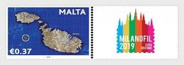 H01 Malta 2019 Milanofil Stamp Fair MNH Postfrisch - Malta (Orden Von)