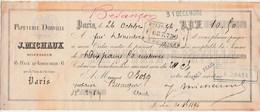 Traite 1896 / Papeterie DORVILLE / J. Michaux / 6 Rue Aboukir / 75 Paris - France