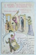 IL MARITO DISUBBIDIENTE 1902 DA TREMEZZO A BRISSAGO  CARTOLINA DI 117 ANNI!!! - Illustrateurs & Photographes