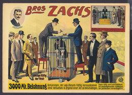"Bros ZACHS - ""ESCAPE ARTISTES"" Like HOUDINI - CIRCUS POSTCARD (see Sales Conditions) - Cirque"