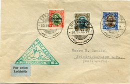 """ISLANDE LETTRE PAR AVION AVEC CACHET  """" LUFTSCHIFF GRAF ZEPPELIN......1931 """" DEPART REYKJAVIK 30 VI 31 POUR L'ALLEMAGNE - Poste Aérienne"""