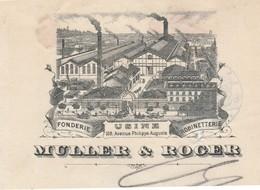 Traite 1904 / MULLER & ROGER / Fonderie Robinetterie / 107 Av Ph. Auguste / 75 Paris - France