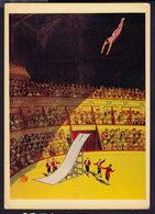 "BILL WEBB In His ""DEATH LEAP"" - CIRCUS -  POSTCARD (see Sales Conditions) - Cirque"