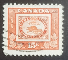 1951, The 100th Anniversary Of Canadian Stamps, Canada, Used - 1937-1952 Règne De George VI