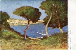 """RIBERA DE BENDINAT """"MALLORCA"""" - POSTAL CARD CIRCA 1900's WRITTEN ART - LILHU - Peintures & Tableaux"""