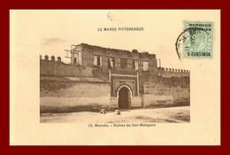 Meknès * Ruines Du Dar Mahzen   (scan Recto Et Verso ) - Meknès