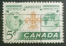 1955, The 8th World Scout Jamboree, Canada, Used - 1952-.... Règne D'Elizabeth II