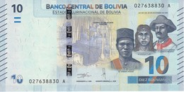 BILLETE DE BOLIVIA DE 10 BOLIVIANOS DEL AÑO 2018 SIN CIRCULAR-UNCIRCULATED (BANKNOTE) COLIBRI - Bolivia