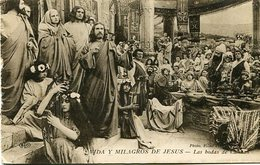 """""""VIDAS Y MILAGROS DE JESUS, LAS BODAS DE CANAAN"""" PHOTO FILMS PATHE FRERES - POSTAL CARD CIRCA 1900's ART - LILHU - Peintures & Tableaux"""