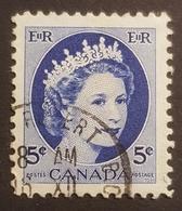 1954, Queen Elizabeth Ll, Canada, Used - 1952-.... Règne D'Elizabeth II