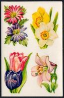 C0595 - Abziehbild Schiebebild Aufkleber - Blumen - Planet Verlag DDR Grafik - Fleurs