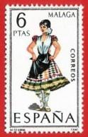 España. Spain. 1969. Malaga. Trajes Regionales Regional Costumes - 1961-70 Nuevos & Fijasellos