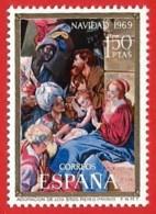 España. Spain. 1969. Navidad. Christmas - 1961-70 Nuevos & Fijasellos