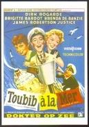 Carte Postale (cinéma Affiche Film) Toubib à La Mer (Brigitte Bardot - Dirk Bogarde) - Affiches Sur Carte