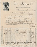 Facture 1903 / Ch. PARISOT / Vins / Propriétaire / Plan Des Vignobles / 21 Beaune / Côte D'Or - France