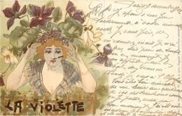 JACK ABEILLE (illustrateur) -portrait De Femme , La Violette. - Illustrateurs & Photographes