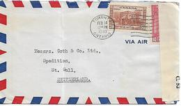 CANADA 1940 Censored Cover Posted 2 Stamps COVER USED - 1937-1952 Règne De George VI