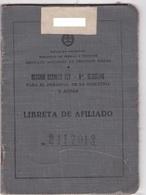 LIBRETA AFILIADO-PERSONAL DE LA INDUSTRIA-CIRCA 1950s-FISCALES +100 UNIDADES - BLEUP - Servizio