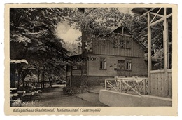 Niedereinsiedel Sudetengau, Waldgasthaus Charlottental, Alte Postkarte, Dolni Poustevna - Tchéquie