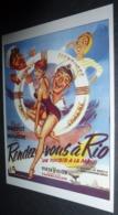 Carte Postale (cinéma Affiche Film) Rendez-vous à Rio (Brigitte Bardot - Dirk Bogarde) - Affiches Sur Carte