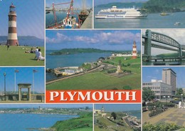 Postcard Plymouth Multiview [ Salmon ] My Ref  B23442 - Plymouth