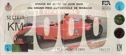 Essais Grand Prix Monaco 2000  Invité - Automobile - F1