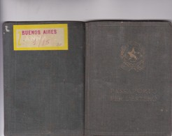 ITALIAN MASCULINO MALE YEAR 1957 PASAPORTE PASSPORT REISEPASS PASSAPORTO - BLEUP - Documenti Storici