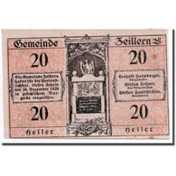 Billet, Autriche, Zeillern, 20 Heller, Paysage, SPL, Mehl:1263c - Autriche