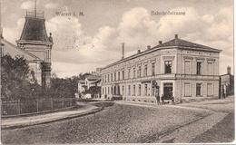 WAREN Müritz Bahnhof Strasse Belebt 26.7.1821 Gelaufen Inflation Frankatur - Waren (Müritz)