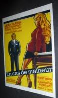 Carte Postale (cinéma Affiche Film) En Cas De Malheur (Brigitte Bardot - Jean Gabin) - Affiches Sur Carte