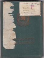 ITALIAN MASCULINO MALE YEAR 1955 PASAPORTE PASSPORT REISEPASS PASSAPORTO - BLEUP - Documentos Históricos